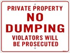 ITEM #no_dumping_private.jpg
